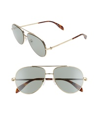 Alexander McQueen 60mm Aviator Sunglasses