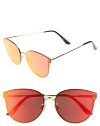 Leith 60mm Mirror Lens Cat Eye Sunglasses Gold
