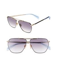 rag & bone 61mm Flat Top Navigator Sunglasses
