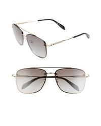 Alexander McQueen 62mm Oversize Navigator Sunglasses