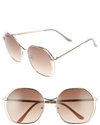 Aj Morgan Centric 58mm Gradient Geometric Sunglasses Gold