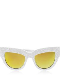 Karlsson Anna Karin Lush Lily Cat Eye Textured Acetate Mirrored Sunglasses