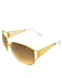 Apopo Eyewear Gold Urban Shield Sunglasses