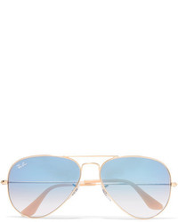 Ray-Ban Aviator Gold Tone Sunglasses