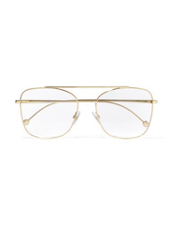 Fendi Aviator Style Gold Tone Optical Glasses