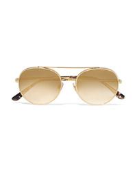 Dolce & Gabbana Aviator Style Gold Tone Sunglasses