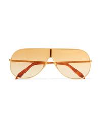 Victoria Beckham Aviator Style Gold Tone Sunglasses