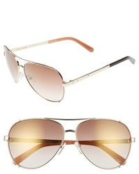 Bobbi Brown The Truman 60mm Aviator Sunglasses Light Gold