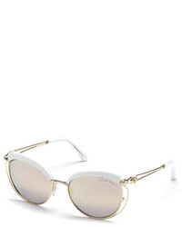 Roberto Cavalli Capped Metal Butterfly Sunglasses Gold
