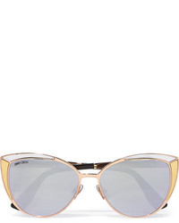 Jimmy Choo Cat Eye Rose Gold Tone Sunglasses