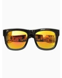 Choies Wayfarer Sunglasses With Yellow Mirror Lens