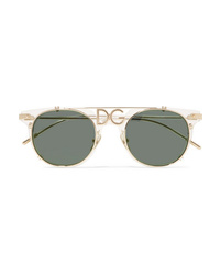 Dolce & Gabbana D Frame Acetate And Gold Tone Sunglasses