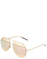 29c27fcba7c ... Christian Dior Dior Diorsplit Two Tone Metallic Aviator Sunglasses  Light Pinkrose Golden