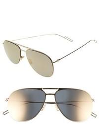Dior homme 59mm aviator sunglasses palladium medium 760925