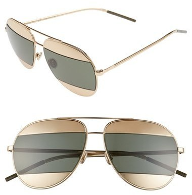 37396d0f78 ... Christian Dior Dior Split 59mm Aviator Sunglasses Dark Gunmetal ...