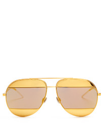 Christian Dior Dior Split Mirrored Aviator Sunglasses