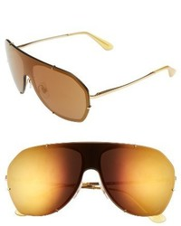 Dolce & Gabbana Dolcegabbana 60mm Aviator Sunglasses Gold Brown