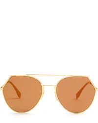 Fendi Eyeline Aviator Sunglasses