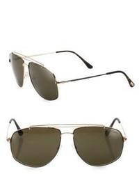 Tom Ford Eyewear Georges 59mm Polarized Navigator Sunglasses