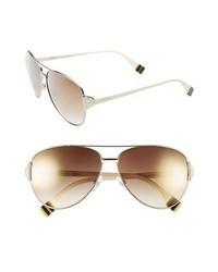 Fendi 60mm Aviator Sunglasses Light Gold One Size