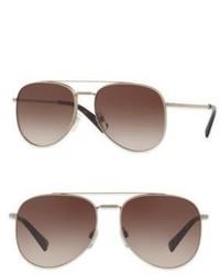 Valentino Garavani Glamtech 56mm Aviator Sunglasses