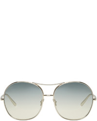 Chloé Gold And Green Round Sunglasses