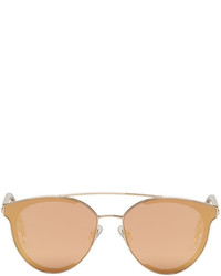 Gentle Monster Gold And Pink Last Bow Sunglasses