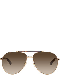 bc77aaa5151 ... Gucci Gold And Tortoiseshell Aviator Sunglasses