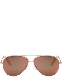 Victoria Beckham Gold Classic Victoria Aviator Sunglasses