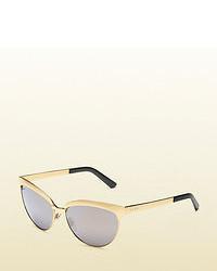 Gucci Gold Endura Cat Eye Sunglasses