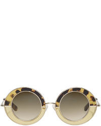 Erdem Gold Linda Farrow Edition Round Sunglasses