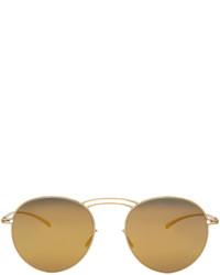 Maison Margiela Gold Mykita Edition Mmesse011 Sunglasses