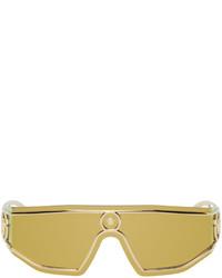 Versace Gold Shield Medusa Sunglasses