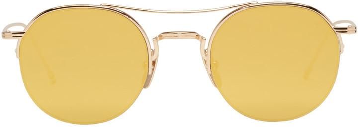 77a33af529d ... Thom Browne Gold Tb 903 Sunglasses ...