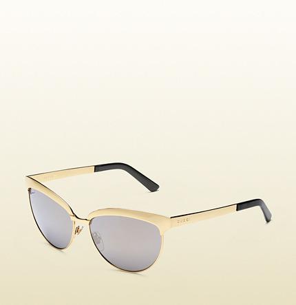 Gold Sunglasses Gold Endura Cat Eye Sunglasses