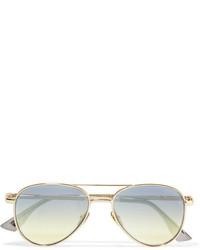 Le Specs Imperium Aviator Style Gold Tone Sunglasses
