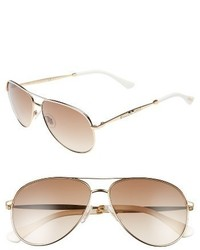 Jimmy Choo Jewlys 58mm Aviator Sunglasses Bronze