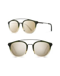Shwood Kinsrow 49mm Acetate Wood Sunglasses