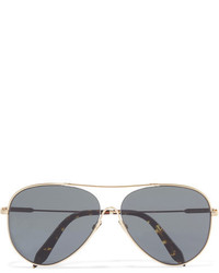 Victoria Beckham Loop Aviator Style Gold Tone Sunglasses