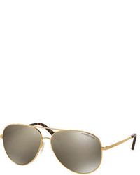 Michael Kors Michl Kors Mirrored Metal Aviator Sunglasses