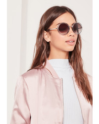 Missguided Round Frame Sunglasses Gold