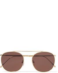 Illesteva Mykonos Ii Round Frame Gold Tone Sunglasses