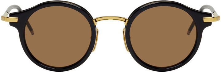 75d57fa5ac1 ... Thom Browne Navy And Gold Tb 807 Sunglasses ...