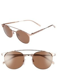 Raen Rn Raleigh 51mm Sunglasses Rose Gold Flesh