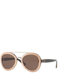 Valentino Rocker Double Bridge Plastic Sunglasses