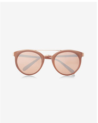 Express Rose Gold Cat Eye Sunglasses
