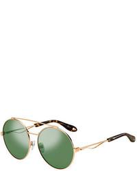 Givenchy Round Metal Aviator Sunglasses