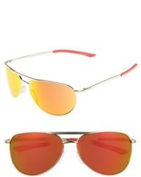 Smith Serpico Slim 20 60mm Chromapop Polarized Aviator Sunglasses Gold Green Mirror
