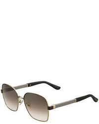 Jimmy Choo Sia Metallic Square Universal Fit Sunglasses