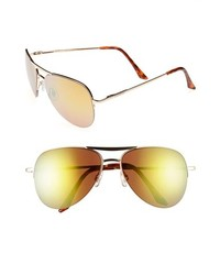 8e131adba5f ... Steve Madden 60mm Aviator Sunglasses Gold Green One Size